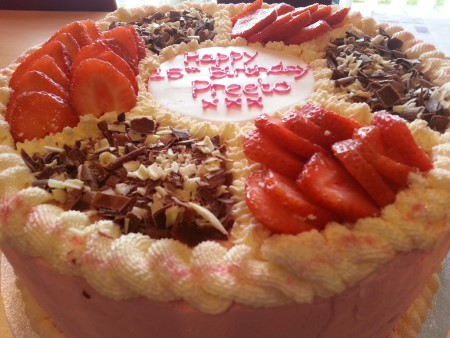 Celebration cake - eggless
