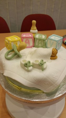 Baby shower cake (eggless)