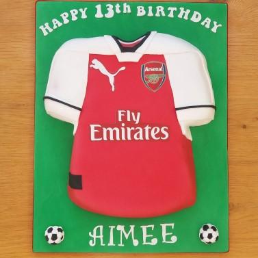 Football shirt cake - Arsenal FC