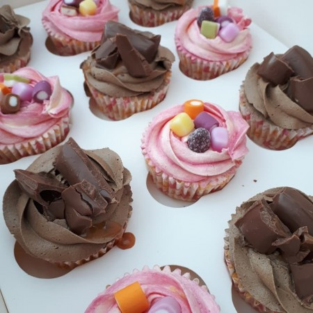 Chocolate and sweetie cupcakes