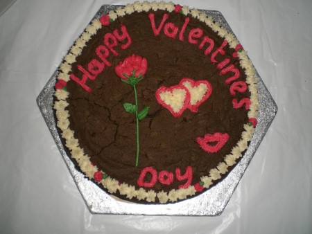 Giant valentine cookie
