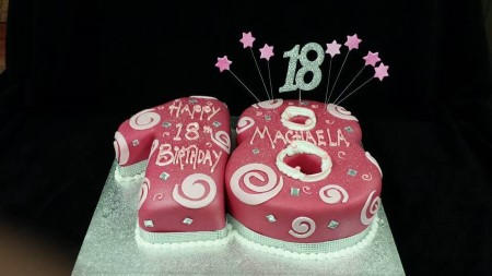 Fabulous 18Th Birthday Cake Celtic Cakes Studio Funny Birthday Cards Online Elaedamsfinfo