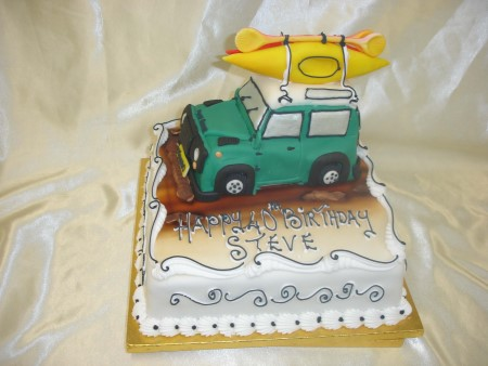 Birthday Cake - Car & Canoes