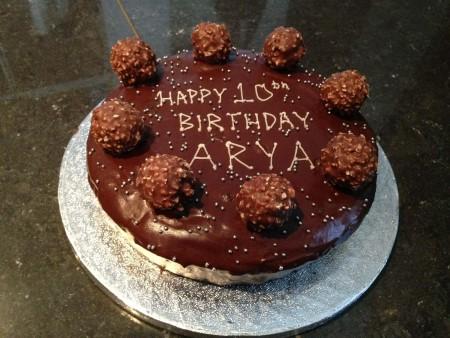Chocolate cake with Ferrero Rocher