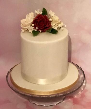 6 inch floral birthday cake