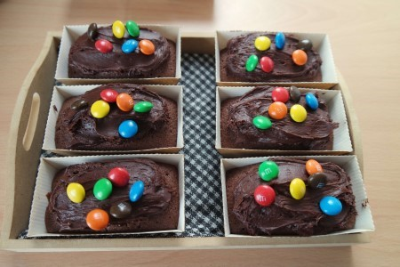 6 Mini Chocolate M&M Loaf Cakes