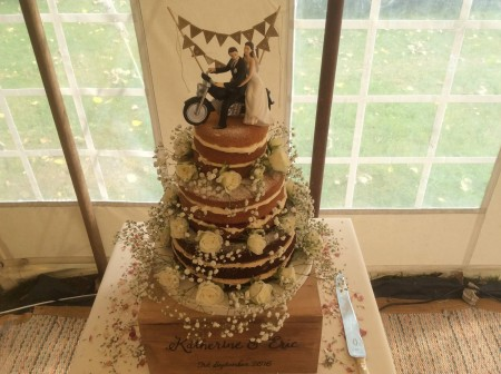Gluten free Naked wedding cake