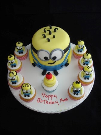 Minion Cake - Chocolate Sponge