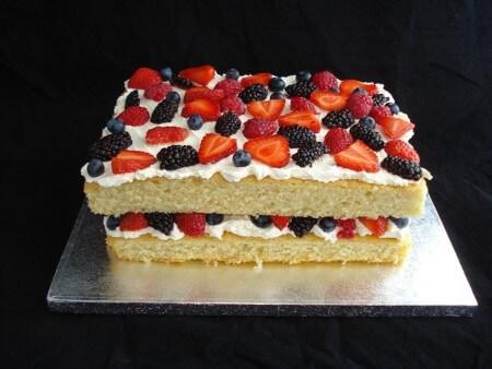 Summer Fruits Sponge Cake