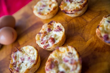 Egg and Bacon Mini Quiche
