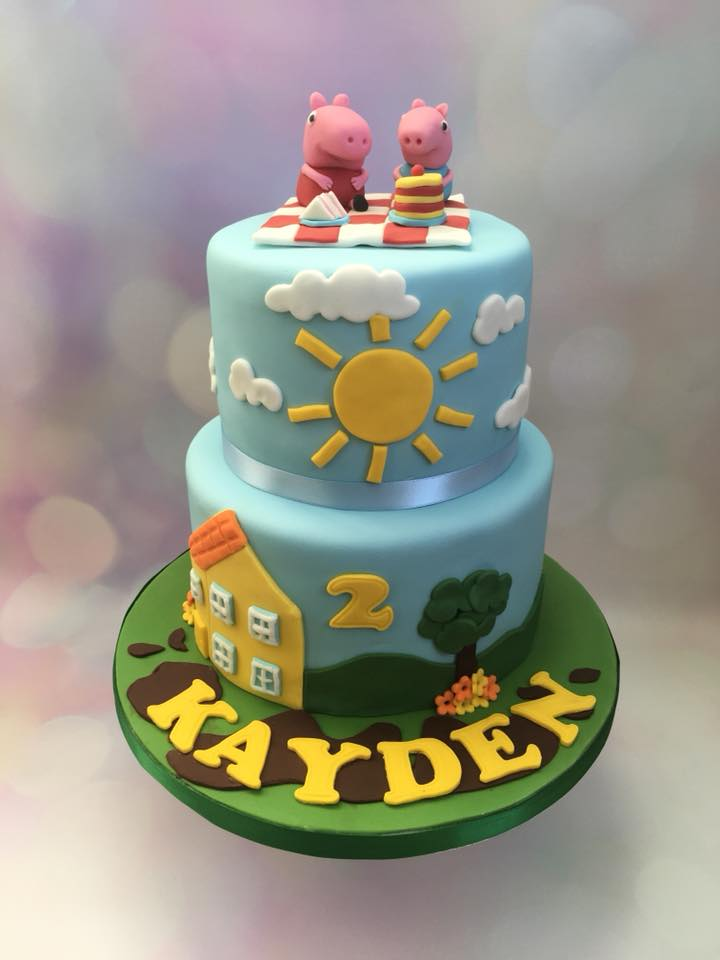 2 Tier Themed Celebration Cake
