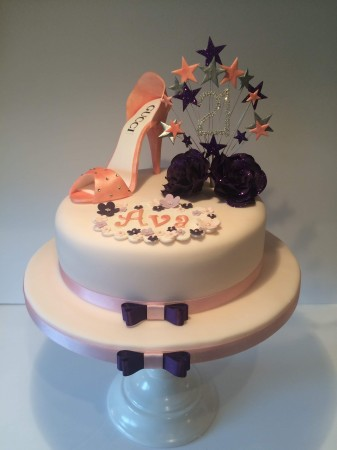 Edible Shoe 21st Birthday Cake