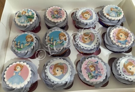 Box of Cupcakes character decorated