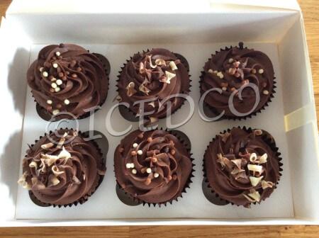 Box of Cupcakes-chocolate
