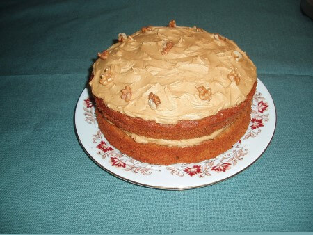 Coffee & Walnut Sponge