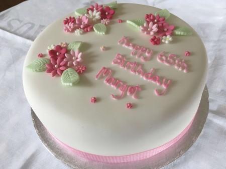 Iced Birthday Cake Lemon