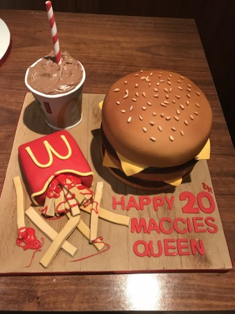 Mc Donalds Burger Cake