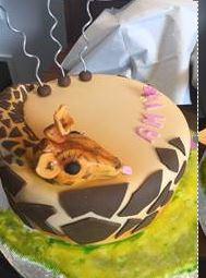 Giraffe cake Strawberry and vanilla