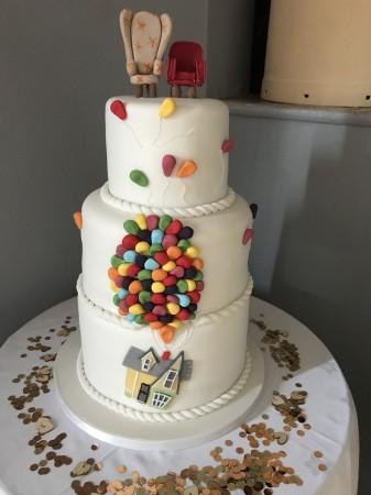 Up wedding cake