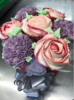 Cupcake Bouquet- choose your colour