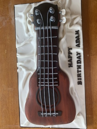 Carved Lemon Ukuele Cake