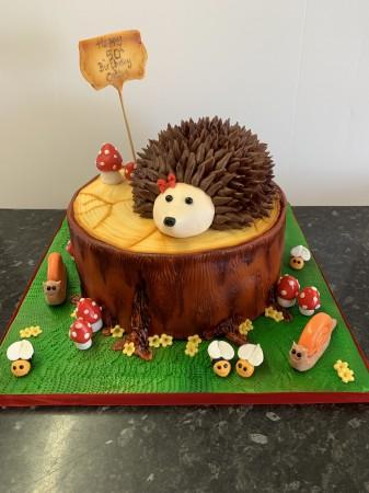 Super Hedgehog Woodland Cake Corner Newquay Funny Birthday Cards Online Inifodamsfinfo