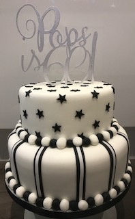 Two Tier 60th Birthday Cake