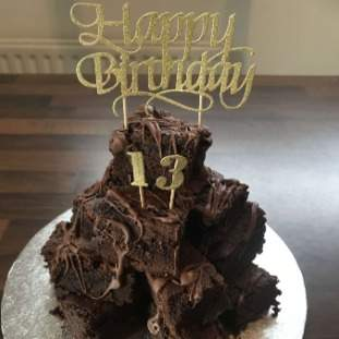Stupendous Brownie Stack Cake Appeal Personalised Birthday Cards Paralily Jamesorg