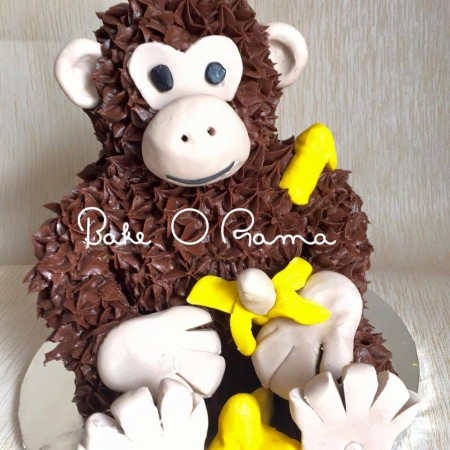 Customised Childrens Monkey cake