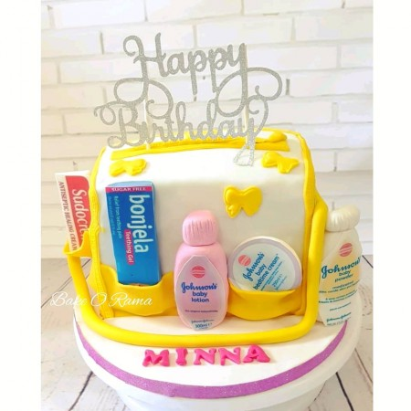Baby Shower Cake -Baby Changing Bag