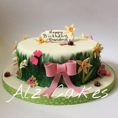 Flower Garden Celebration Cake
