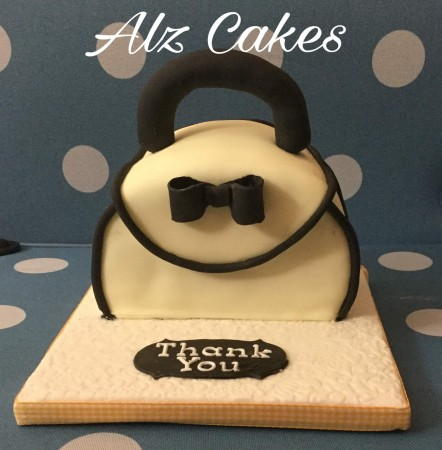 Black and White Handbag Cake