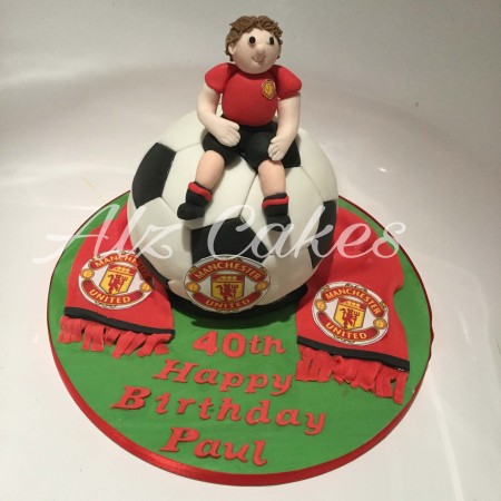 3D football Cake - any team badge and colours