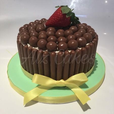 "6"" Chocolate and vanilla Sponge cake. Chocolate  Overload Celebrations Cake"