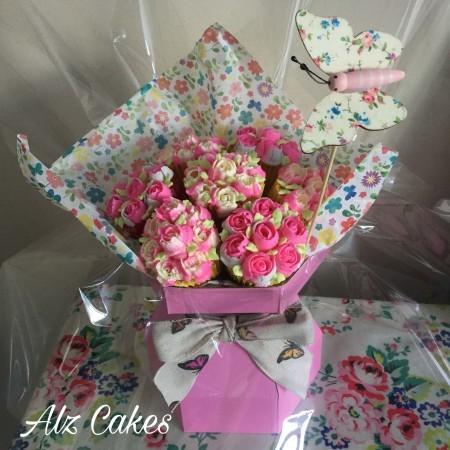 Celebration  Cupcakes Roses Bouquet
