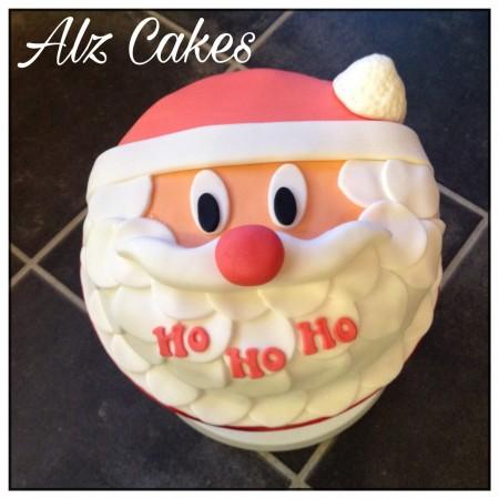 "8"" Round Father Christmas Cake (vanilla or chocolate sponge)"
