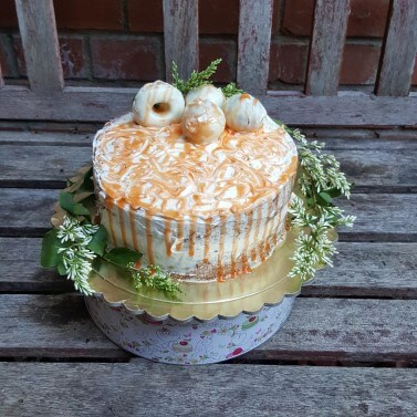 Carrot and Passion Fruit Drip Cake