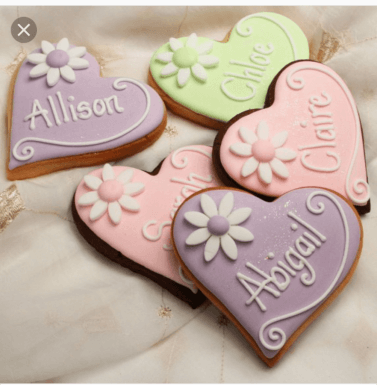Personalised Heart Shaped Biscuits