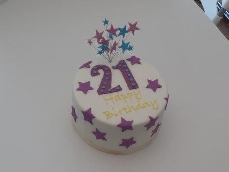 Numbers Birthday Cake - Vanilla and Raspberry