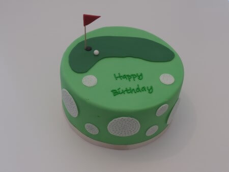 Golf Cake - Vanilla and Raspberry