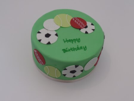 Sports Cake - Vanilla and Raspberry