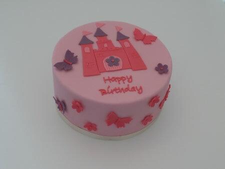 Princess Castle Cake - Vanilla and Raspberry