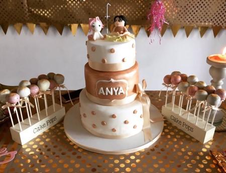Celebration cake and cake pops