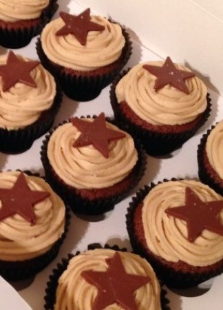 Chocolate and toffee cupcakes