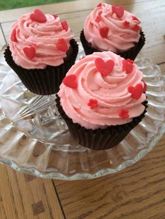 Chocolate strawberry cupcake