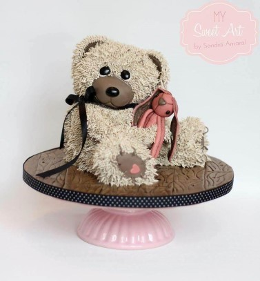 3D Elephant Bear ( holding 30 or 30 on cake)