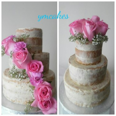 3 Tier Semi-Naked cake