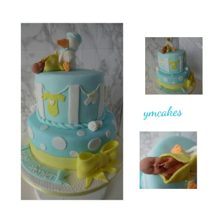 Baby Shower Cake / gender reveal