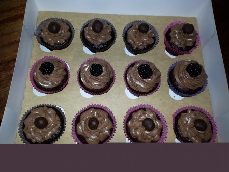 Vegan Gluten Free Chocolate Cupcakes with Your Choice of Frosting