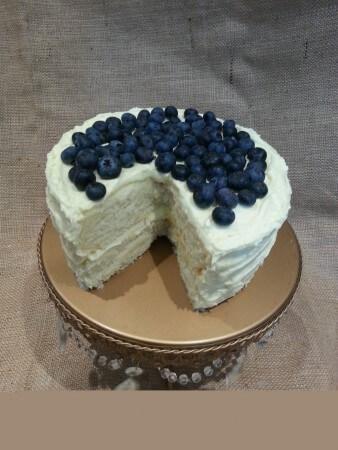 Vegan Gluten Free Lemon Cake with Blueberries